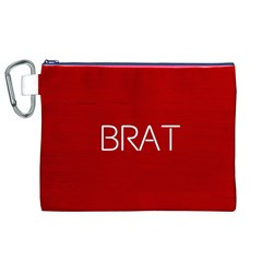 Brat Red Canvas Cosmetic Bag (XL)