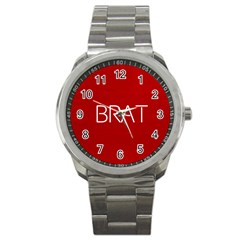 Brat Red Sport Metal Watch