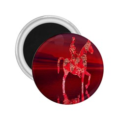 Riding At Dusk 2 25  Button Magnet