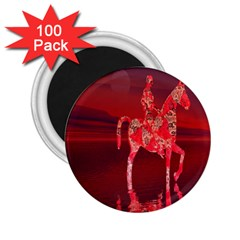Riding At Dusk 2 25  Button Magnet (100 Pack)