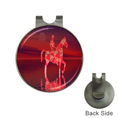 Riding At Dusk Hat Clip With Golf Ball Marker