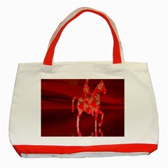 Riding At Dusk Classic Tote Bag (red)