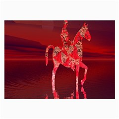 Riding At Dusk Glasses Cloth (large, Two Sided)