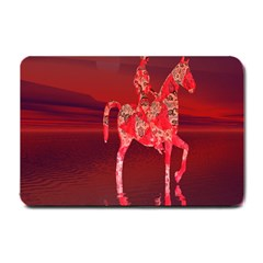 Riding At Dusk Small Door Mat