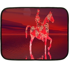 Riding At Dusk Mini Fleece Blanket (Two Sided)