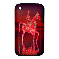 Riding At Dusk Apple iPhone 3G/3GS Hardshell Case (PC+Silicone)