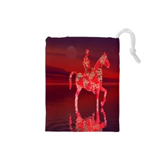Riding At Dusk Drawstring Pouch (small)