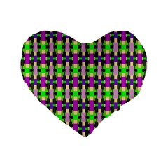 Pattern Standard Flano Heart Shape Cushion