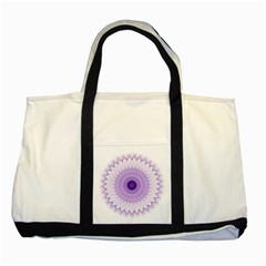 Mandala Two Toned Tote Bag