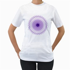 Mandala Women s T-Shirt (White)
