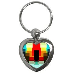 Pattern Key Chain (heart)