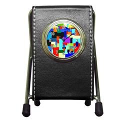 Pattern Stationery Holder Clock