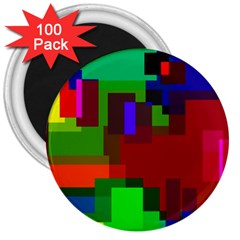 Pattern 3  Button Magnet (100 Pack)