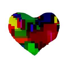 Pattern Standard Flano Heart Shape Cushion