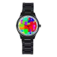 Pattern Sport Metal Watch (black)