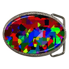 Pattern Belt Buckle (oval)