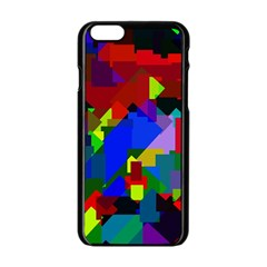 Pattern Apple Iphone 6 Black Enamel Case