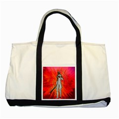 White Knight Two Toned Tote Bag