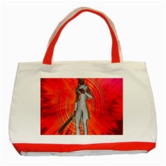 White Knight Classic Tote Bag (Red)