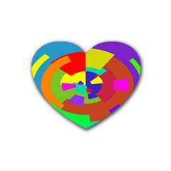 Pattern Drink Coasters (heart)