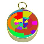 Pattern Gold Compass Front