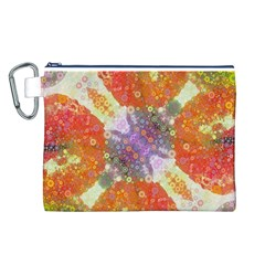 Abstract Lips  Canvas Cosmetic Bag (Large)