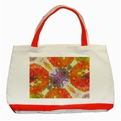 Abstract Lips  Classic Tote Bag (Red)