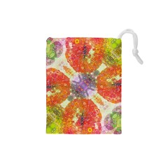 Abstract Lips  Drawstring Pouch (small)