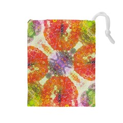 Abstract Lips  Drawstring Pouch (Large)