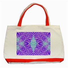 Turquoise Purple Zebra Pattern  Classic Tote Bag (red)