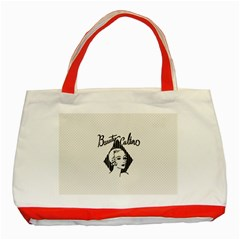 Vintage Beauty  Classic Tote Bag (Red)