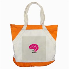 All Brains Leather  Accent Tote Bag