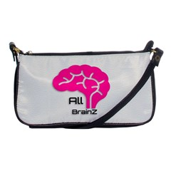 All Brains Leather  Evening Bag