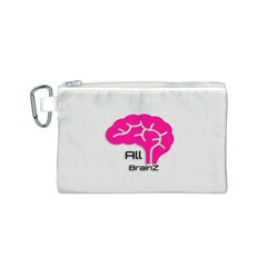 All Brains Leather  Canvas Cosmetic Bag (Small)