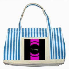 Vape Abstract Blue Striped Tote Bag