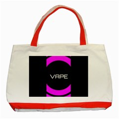 Vape Abstract Classic Tote Bag (Red)