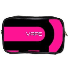 Hot Pink Black Vape  Travel Toiletry Bag (two Sides)