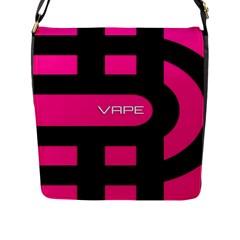 Hot Pink Black Vape  Flap Closure Messenger Bag (large)