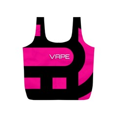 Hot Pink Black Vape  Reusable Bag (s)