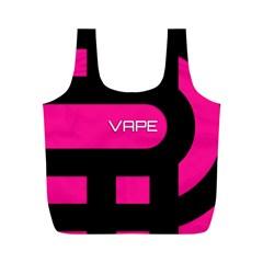 Hot Pink Black Vape  Reusable Bag (M)