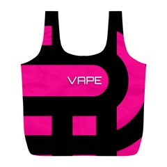 Hot Pink Black Vape  Reusable Bag (l)