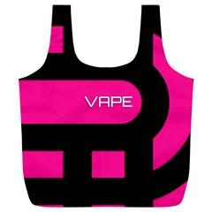 Hot Pink Black Vape  Reusable Bag (XL)