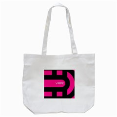 Hot Pink Black Vape  Tote Bag (white)