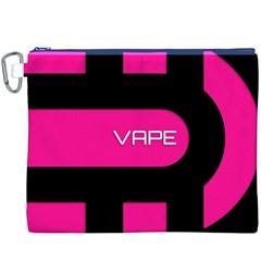 Hot Pink Black Vape  Canvas Cosmetic Bag (XXXL)
