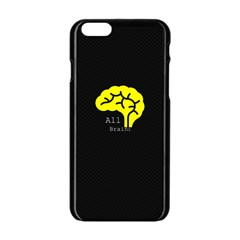 All Brains  Apple iPhone 6 Black Enamel Case