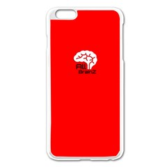 All Brains Red Apple iPhone 6 Plus Enamel White Case