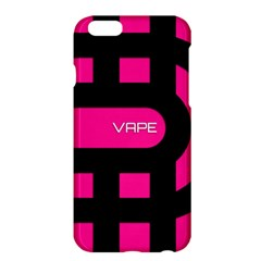 Hot Pink Black Vape  Apple iPhone 6 Plus Hardshell Case