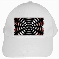 Zombie Apocalypse Warning Sign White Baseball Cap
