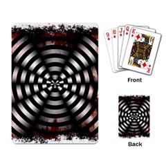 Zombie Apocalypse Warning Sign Playing Cards Single Design