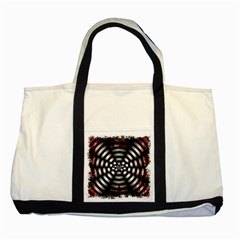 Zombie Apocalypse Warning Sign Two Toned Tote Bag